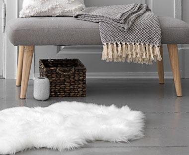 Sztuczne futerko na podłogę | JYSK
